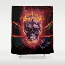 DEATH METAL Shower Curtain