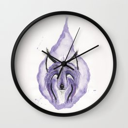 Hitodama the Spirit Wolf. Wall Clock
