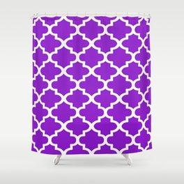 Arabesque Architecture Pattern In Purple Shower Curtain