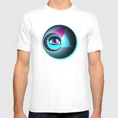 Halftone Eyeball Mens Fitted Tee White MEDIUM