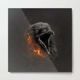 XTINCT x Raven Metal Print