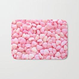 Pink Candy Hearts Bath Mat