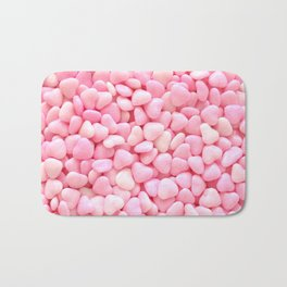 Pink Candy Hearts Bath Mat
