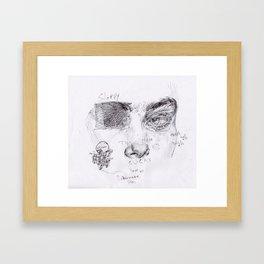 Sloppy Framed Art Print