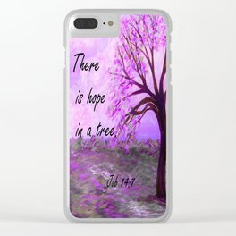 There is Hope in a Tree Clear iPhone Case