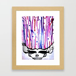 One of a Kind Grateful Dead Head Painting  Framed Art Print