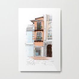 Thin house Metal Print