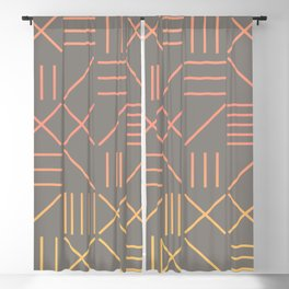 Geometric Shapes 12 Gradient Blackout Curtain