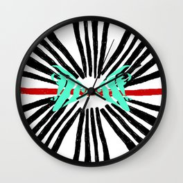 Wonderful Water World Collection- Kissy Faced Fishies by Studio Ebon D'zynz Wall Clock