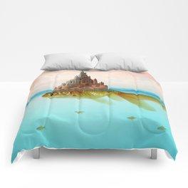 Goldfish Castle Island Comforters
