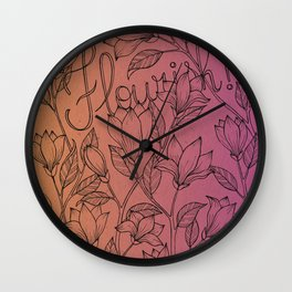 Gradient Flourish Wall Clock