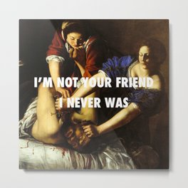 Judith Stopping Holofernes Metal Print
