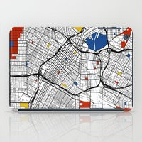 los angeles iPad Cases featuring Los Angeles by Mondrian Maps