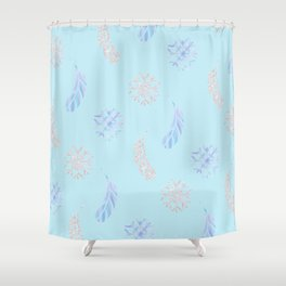 Icy Feather Redux Shower Curtain