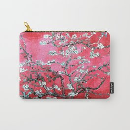 Van Gogh Almond Blossoms : Reddish Pink & Light Blue Carry-All Pouch