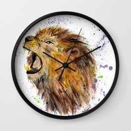 Roar, Lion, Animal, Nature, Animal Kingdom, King of the Jungle  Wall Clock