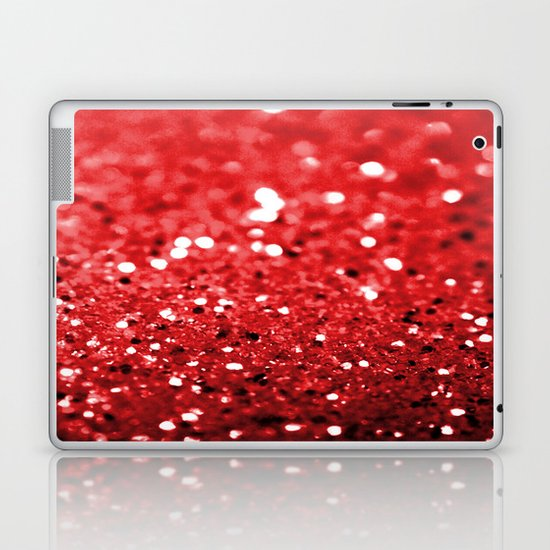 Glitter Red Laptop & iPad Skin