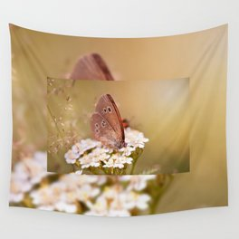 Ringlet brown butterfly Wall Tapestry
