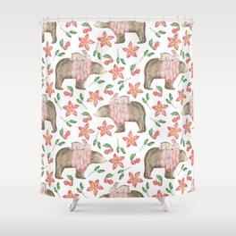 Bear Pattern #7 Shower Curtain