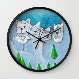 South Dakota Cat Wall Clock