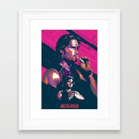 metal gear Framed Art Prints featuring ESCAPE FROM METAL GEAR by mergedvisible