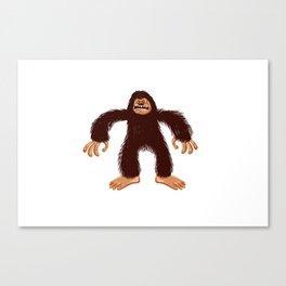Angry bigfoot Canvas Print