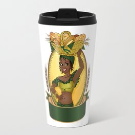 Young pretty african selling bread Travel Mug