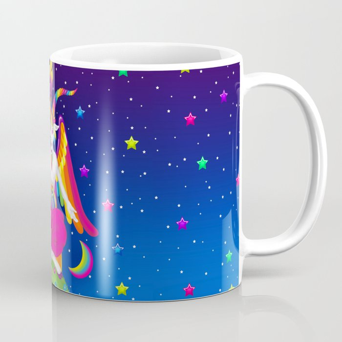 1997 Neon Rainbow Baphomet Kaffeebecher