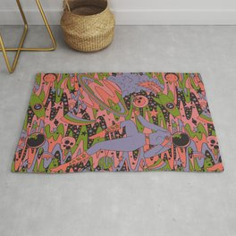 Psychedelic Space  Rug