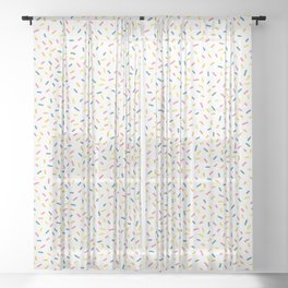 Colorful Party Sprinkles Sheer Curtain