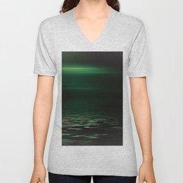 Light-Green sea at twilight Unisex V-Neck