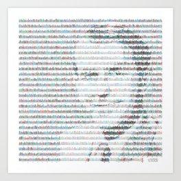 Fred Sanger in insulin gene DNA sequence Art Print