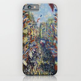 The Rue Montorgueil in Paris. Celebration of June 30, 1878 iPhone Case