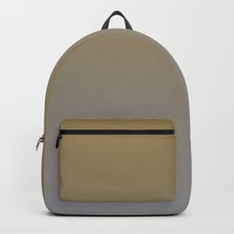 Gray Brown Ombre Gradient Blend 2021 Color of the Year Ultimate Gray & Accent Shade Backpack
