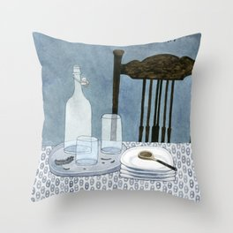 Still life with dried herbs Throw Pillow