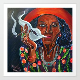 Old Gypsy Woman Art Print
