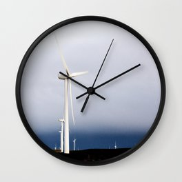 A wind farm off California Rt 12 near Rio Vista in Solano County California Wall Clock