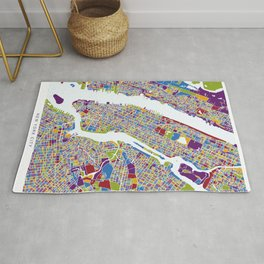 NEW YORK color map Rug