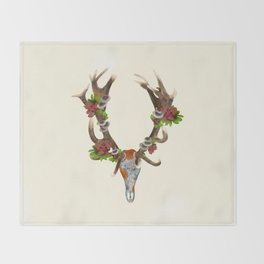 The Red Stag Throw Blanket