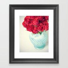 Forgive Me ~ Red Roses Framed Art Print