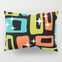 Retro Mid Century Modern Abstract Pattern 222 Orange Chartreuse Turquoise Pillow Sham