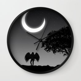 Lonely nights. Wall Clock