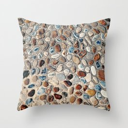 Pebble Rock Flooring II Throw Pillow
