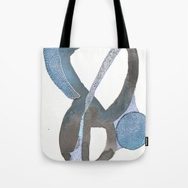 And You Also Abstract Watercolor Tote Bag