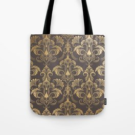 Gold foil swirls damask #10 Tote Bag