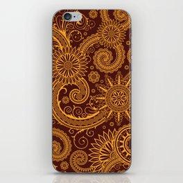 Oriental Persian Paisley, Swirls - Red Yellow iPhone Skin