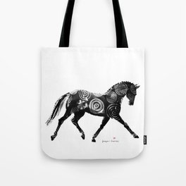 Horse (Extended trot) Tote Bag