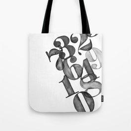 watercolornumbers Tote Bag