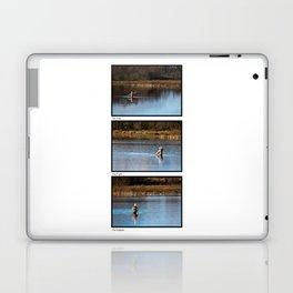 Gone Fishing Triptych White Laptop & iPad Skin