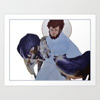 Saint with Wolves Art Print